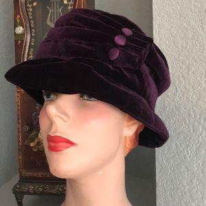 Purple hat cloche